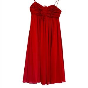 WTOO By Watters & Watters Red Cocktail Party Dress